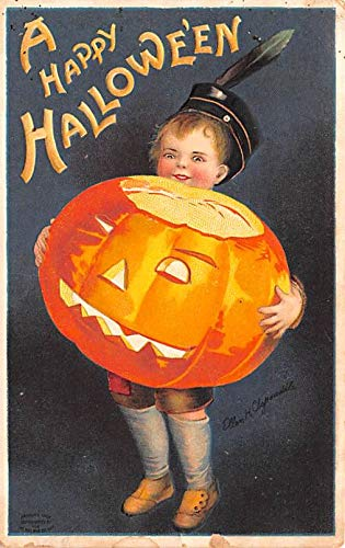Halloween Post Card Old Vintage Antique Artist Ellen Clapsaddle Writing on back -