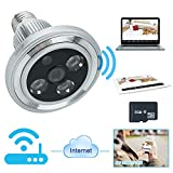 Wiseup™ 8GB 1280x720P Wifi Network Camera Bulb Motion Detection Camcorder for Android iPhone APP Remote View