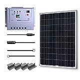 Renogy 100 Watt 12 Volt Polycrystalline Solar Starter Kit w/ 20A MPPT Charge Controller
