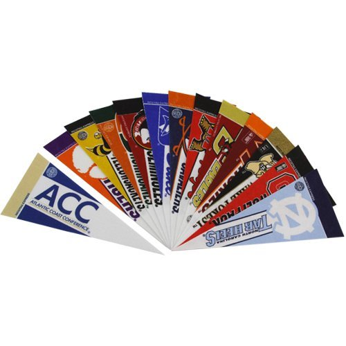 ACC Mini Pennant Set (all 12 - Mini Football 10 Inch