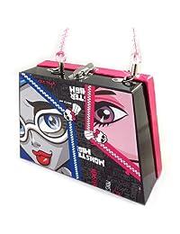Suitcase handbag 'Monster High' black pink.