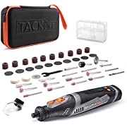 #LightningDeal TACKLIFE 8V Cordless Rotary Tool 2.0Ah Li-ion Power Battery 5-Speed Multi-Functional Tool with 43 Pcs Rotary Accessory Kit, Shield Attachment, USB Cable for Grinding,Sharpening,Sanding,Cleaning,Polishing | RTD02DC