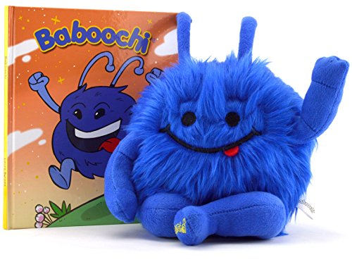 Baboochi Stuffed Animal Toy, Plush Doll, Fun Interactive Educational Learning for Children Age 2, 3, 4, 5, 6, 7, 8. Hard Cover Children's Story Book Incl. For Kids Girls Boys. (Dead Things To Be For Halloween)