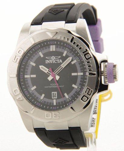 Invicta Men's 12161 Pro Diver Black Dial Black Polyurethane Watch