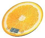 Taylor Precision Products Citrus Glass Kitchen Scale, Orange