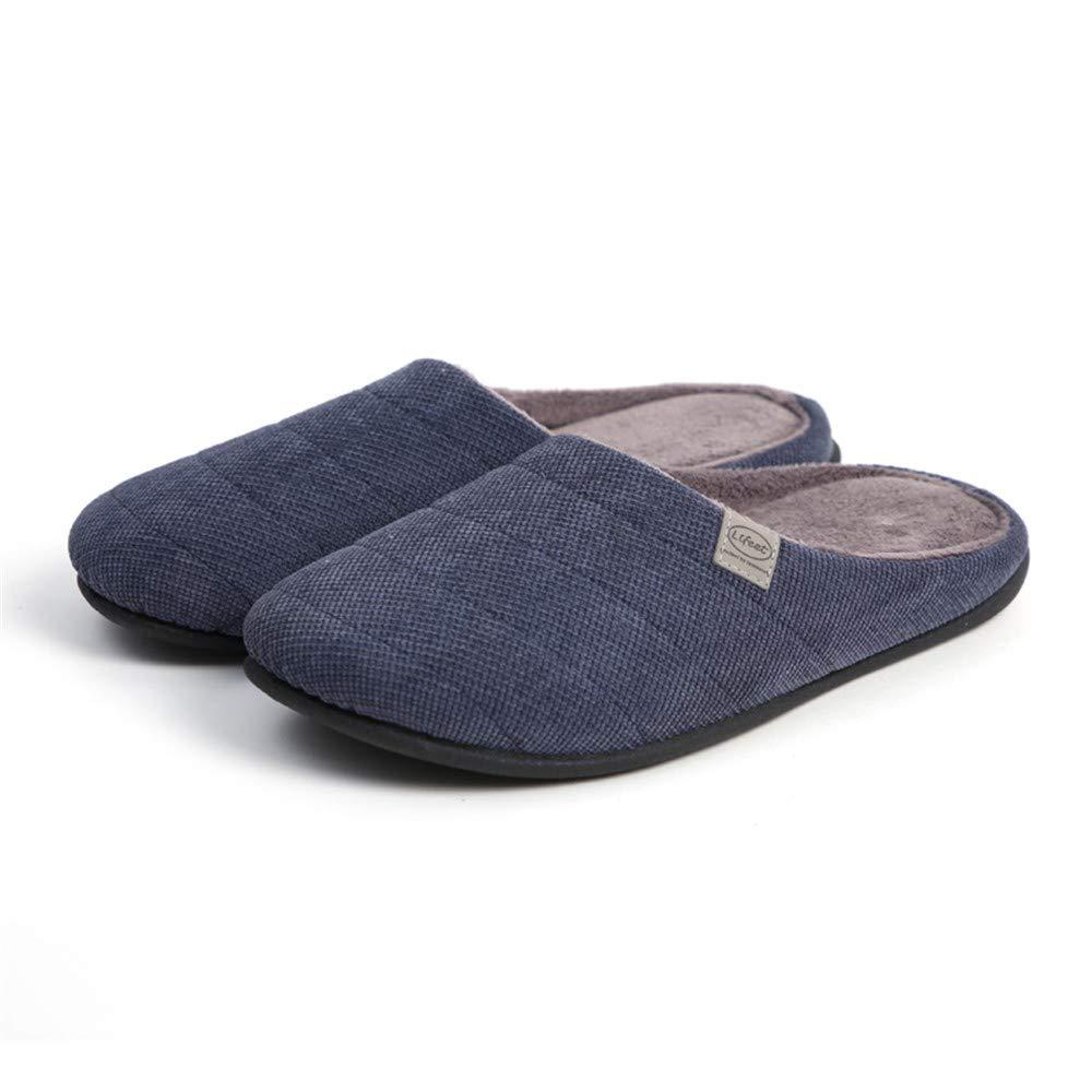 NIGHT WALL Confortable Slip-on Winter Automne et Hiver, Femmes, Pantoufles en Coton antidérapantes, Pantoufles en Coton pour Hommes, intérieur et extérieur, 1,42House Shoes Indoor & Outdoor