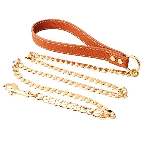 Extra Heavy Duty Welding Cooper Dog Leash, Durable and Premium Quality, - 42 inch Long 10MM Wide Perfect for Everyday Training, Walking, Running Best For XL, Large, Medium And Small Dogs