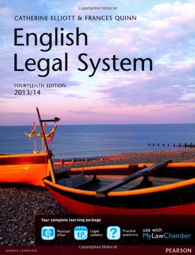 English Legal System 2013/14 + MyLawChamber Pearson eText Acess Code