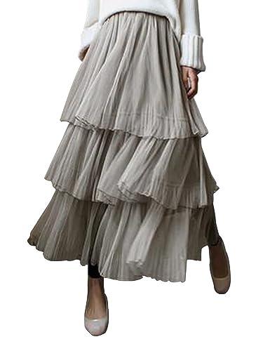 SOIXANTE - Falda - para mujer beige beige