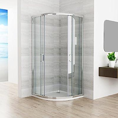 90 x 90 x 195 cm cabinas de ducha Cuarto Círculo redondo ducha puerta corredera ducha Mampara de cristal con ducha bañera: Amazon.es: Bricolaje y herramientas