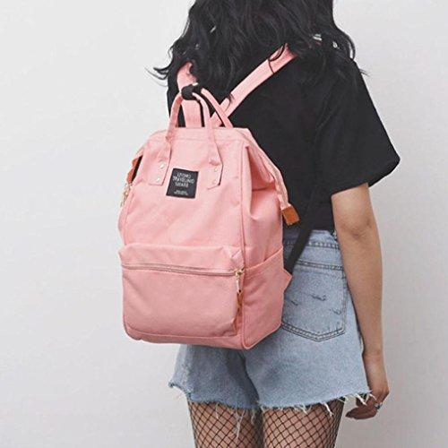 Travel HARRYSTORE Canvas Shoulder Handbags Satchel Pink Shoulder Bag Womens Elegant School Phone Rucksack Clearance Backpack Vintage Purse Retro Holiday Girls Bags College Tote vEqFwd1n8