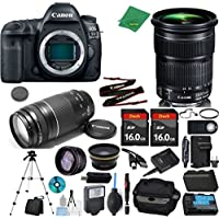 Canon EOS 5D Mark IV Camera + 24-105mm STM + 75-300mm III + 2pcs 16GB Memory + Case + Reader + Tripod + Starter Set + Wide Angle + Telephoto + Flash + Battery + Charger - International Version