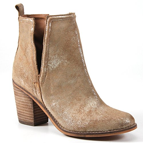 - Diba True Later On Deep V Ankle Bootie (7.5 B(M), Gold Metallic)