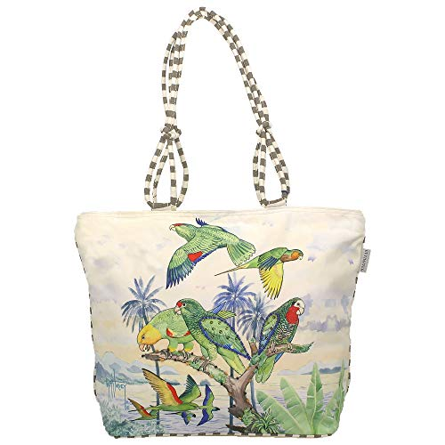 Guy Harvey Majestic Parrots Large Canvas Tote Bag