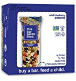 This Bar Saves Lives, Gluten-Free Bar, Wild Blueberry Pistachio, 1.4 Ounce Bars (Pack of 12 Bars)