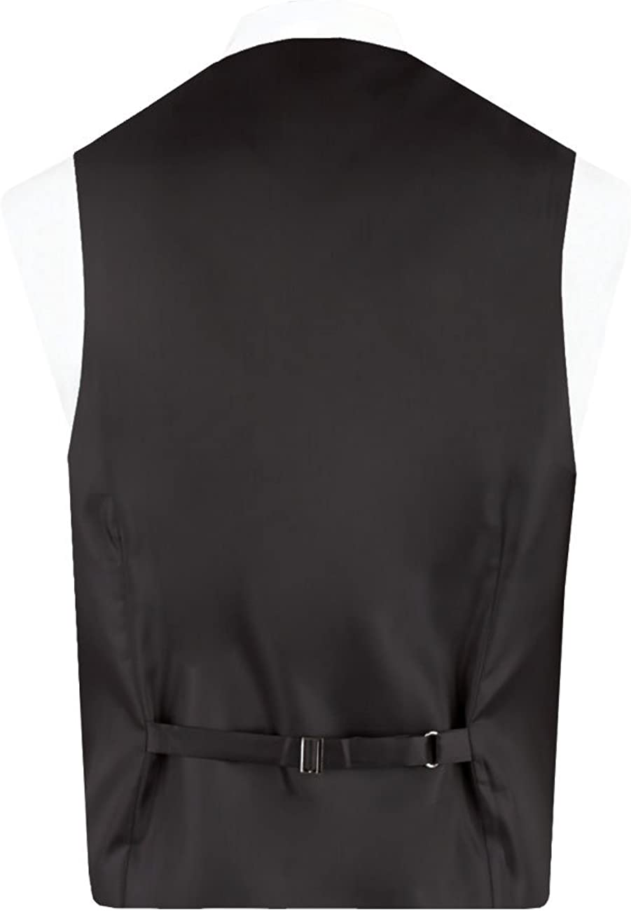 Dobell Mens Black Easy Care Waistcoat Regular Fit 5 Button