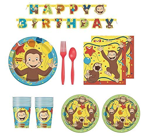 Curious George Birthday Party Supplies for 16 Guests]()