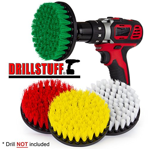 Cleaning Supplies – Drill Brush – Power Scrubber Brush Multi Use Kit – Grout Cleaner – Spin Brush – Tile Cleaner – Deck Brush – Bathtub Cleaner – Window Cleaner – Mineral Deposits, Soap Scum