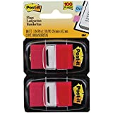 Marcador de Página Adesivo Flags 25,4 x 43,2mm 100 folhas Vermelho Post-it Vermelho