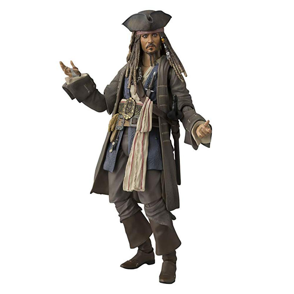 YWEIWEI Pirates of the Caribbean Captain Jack Sparrow Action Figure Statue 15cm