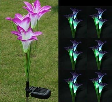 Solarleuchten Garten fre solarleuchten 3 kopf lilien blumen led licht len garten rasen