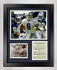 Legends Never Die Dallas Cowboys Aikman, Irvin and Smith Framed Photo Collage, 11x14-Inch