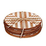 NIKKY HOME Absorbent Round Cork Coasters for Drink Set of 4
