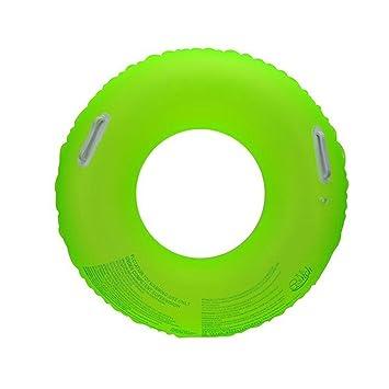 Naviga té 90 cm con Mango Under Brazo Fluorescente Hinchable Flotador (PVC Grueso de natación Anillo: Amazon.es: Hogar