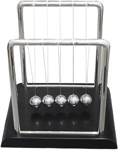 Geocero Physics Mechanics Science Toys - Newton's Cradle, Kinetic Art Asteroid, Perpetual Motion, Balance Balls Desk Toy Home Decoration, Home Office Desk Decoration (Newton's Cradle)