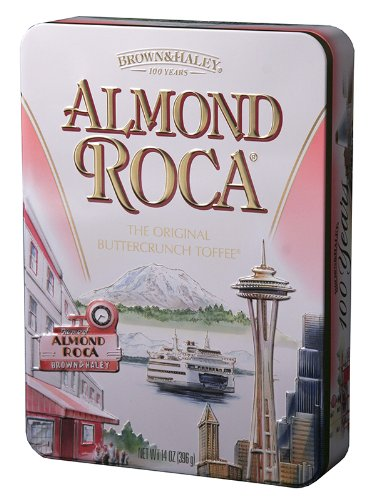 14 oz ALMOND ROCA Keepsake Tin - Case of 6 Tins Brown & Haley Butter