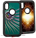 2X Decal Style Skin Wrap Set Compatible with Otterbox Defender iPhone X and Xs Case Flagellum CASE NOT Included
