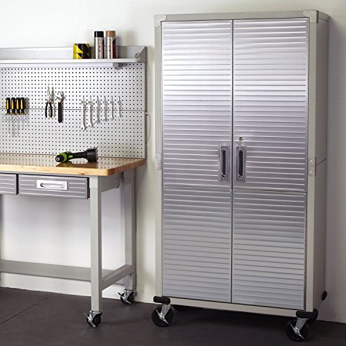 UltraHD Tall Storage Cabinet - Stainless Steel - bedroomdesign.us