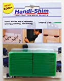 Handi-Shim HS132100GR Plastic Construction Shims/Spacers, 100 Pack, 1/32-Inch, Green