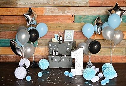 Leyiyi Boy 1st Birthday Party Backdrop 5x3ft Photography Background Baby First Decor Cake Smash