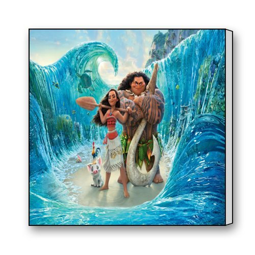 "Scottshop Home Decor Custom Moana Movie Canvas Print 16 ""x 16"""