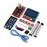 RAMPS 1.4 Mega Shield + 12864 Graphic Smart LCD Display Controller + MEGA2560 R3 board + 5pcs A4988 Stepper Motor Driver with Heat sink For Arduino RepRap 3D Printer Kit