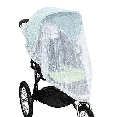 Jolik Mosquito Net for Stroller Carriers Car Seats Cradles, Universal Size, High-Density Stroller Mosquito Net to Prevent The Infection by Mosquito Viruses