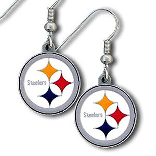 NFL Team Logo Dangle Earrings (Pittsburgh Steelers)