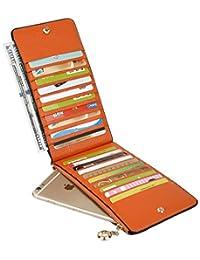 BIG SALE- Yaluxe Women's Genuine Leather Multi Card Organizer Wallet with Zipper Pocket