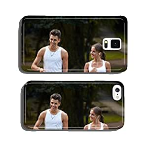 Sport couple walking in the summer park cell phone cover case iPhone6