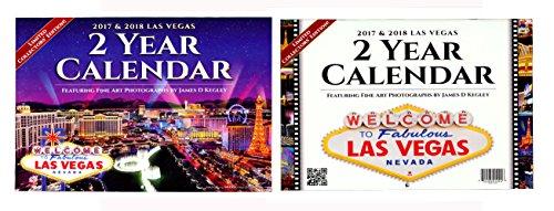 Calendar Two Years 2017-2018 Las Vegas Nevada Scenic Color (Las Vegas Planner)