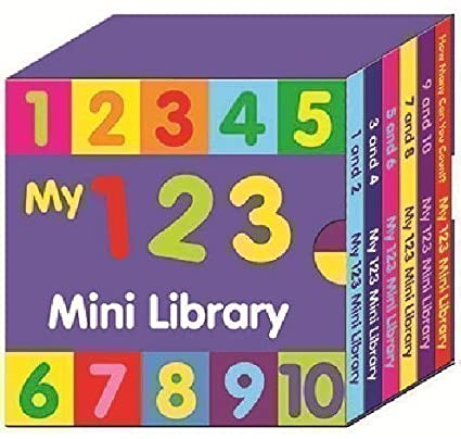 eaf955970c1 Buy Alligator Books Preschool My 123 Mini Library - Set Of 6 Learn Numbers    Counting Books Online at Low Prices in India - Amazon.in