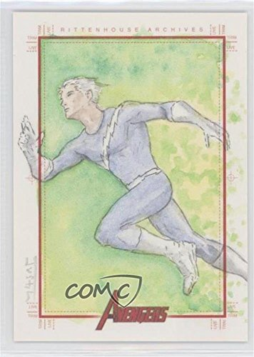 Unknown Artist #1/1 (Trading Card) 2012 Rittenhouse Marvel Greatest Heroes - SketchaFEX Sketch Cards (Heroes Sketch Cards)