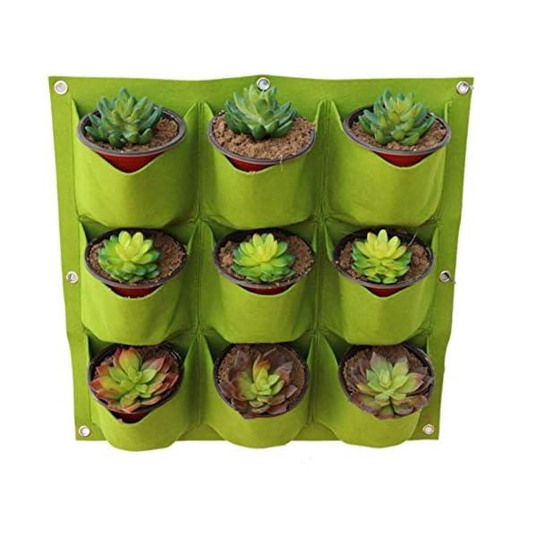 Starry sky Wall Hanging Piantare Borse 18/36/49/72 Tasche Green Grow Bag Planter Verticale Orto Living Garden Bag Fiori… 5 spesavip