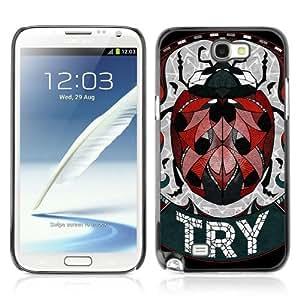 Lmf DIY phone case [Cute Ladybug Illustration] Samsung Galaxy Note 2 CaseLmf DIY phone case