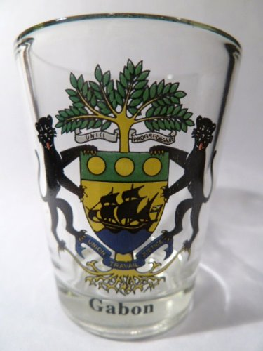 Gabon Coat - Gabon Coat Of Arms Shot Glass