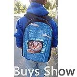Freewander Kids Back to School Backpacks Casual Schoolbag Creative Wolf Printed