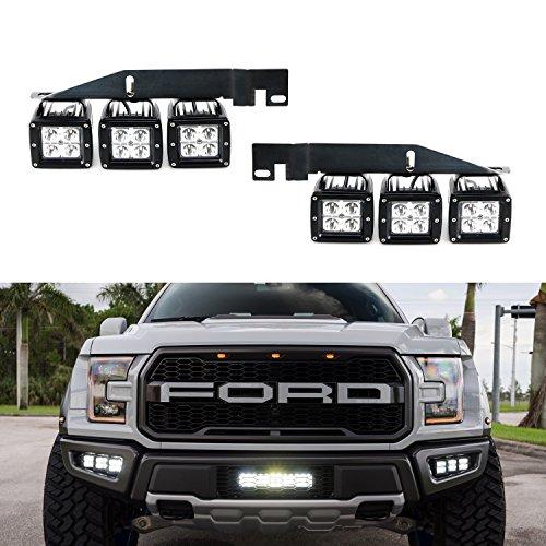 iJDMTOY 70-247-White Xenon White 6000K Off-Road LED Light (2017 2018 and up Ford Raptor) (Raptor Ford)