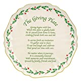 Lenox Holiday Carved Giving Plate,Ivory