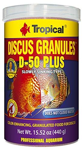 Tropical USA Discus Granules D-50 Plus Fish Food Tin, 440g